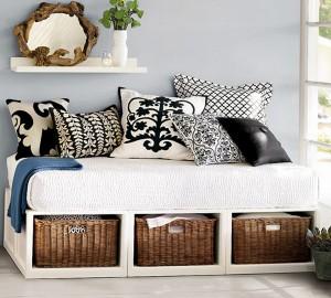 Reciclar colchón de cuna y convertirlo en sofá