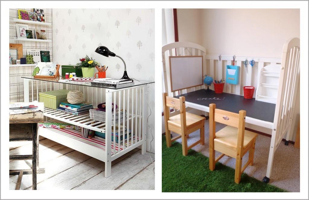 Ideas para reutilizar la cuna el blog de primera foto for Como reciclar una mesa de tv vieja