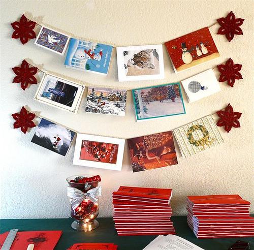 Decorar con las tarjetas de navidad el blog de primera foto - Decorar postales de navidad ...
