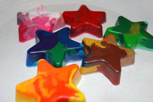Reciclar ceras de colores