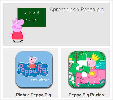 Aplicaciones de Peppa Pig para el móvil