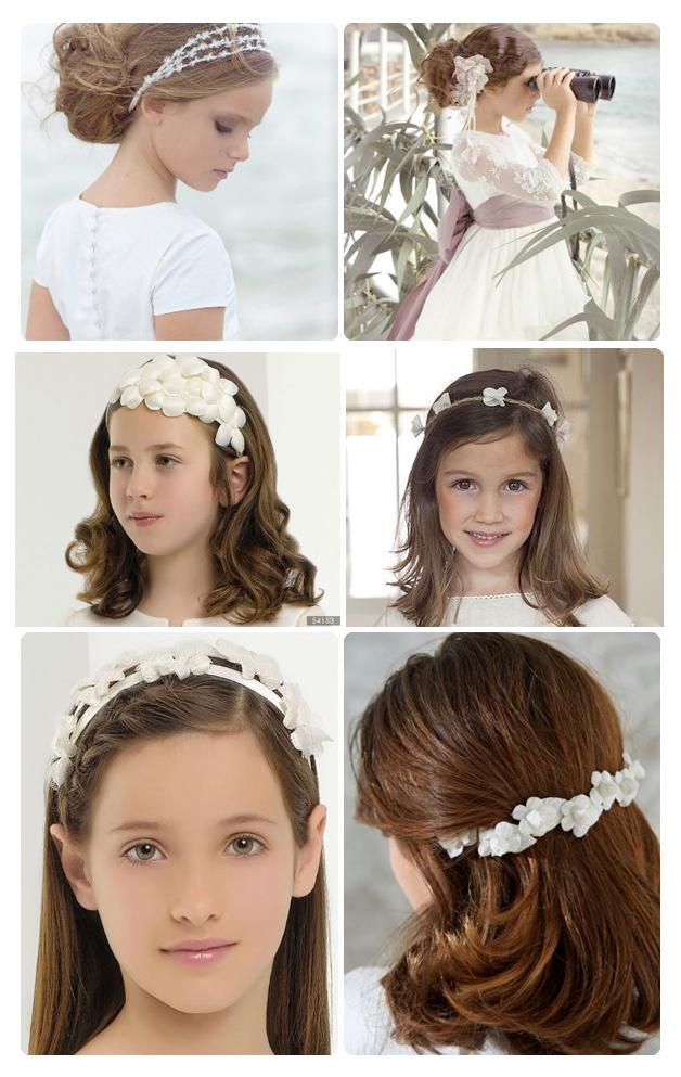 Diversión y halagos peinados comunion niña Imagen De Consejos De Color De Pelo - Peinados de niñas para la Comunión | Primera Foto