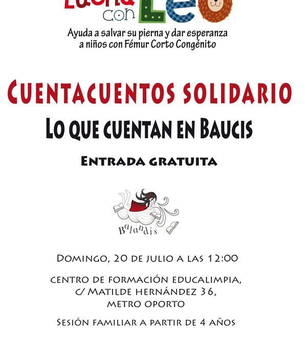 Cuentacuentos solidario organizado por Lucha con Leo