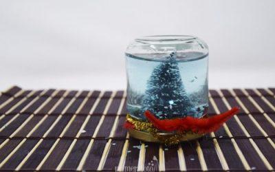 Cómo hacer una bola de cristal navideña, de manera fácil