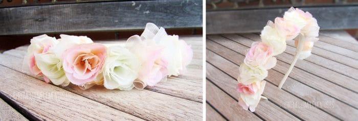 tocado diadema flores