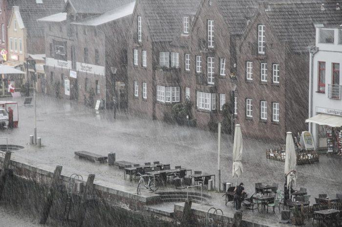 lluvia edificios