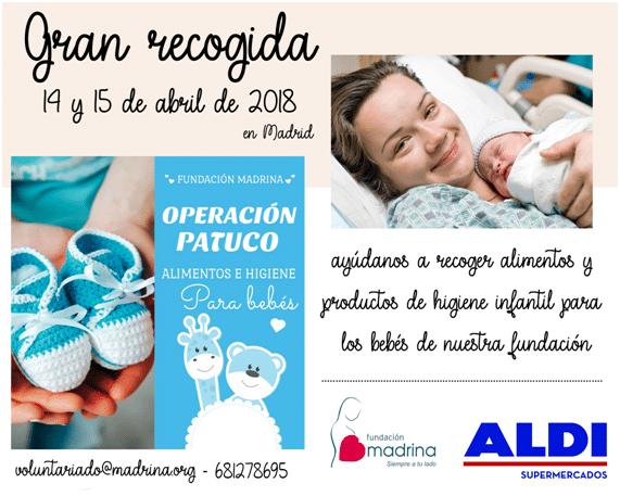 Gran recogida de alimentos y productos infantiles en Madrid