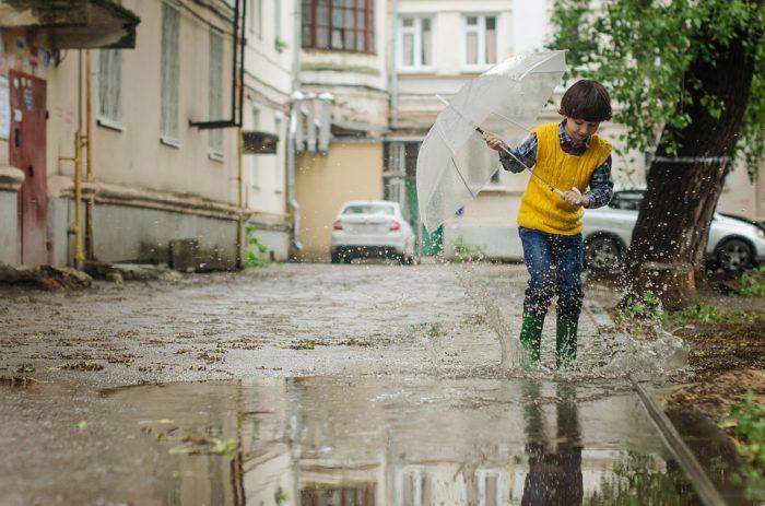 lluvia niños